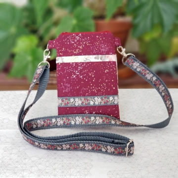 Gray Floral Bag