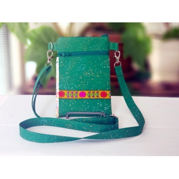Kelly Green Floral Bag