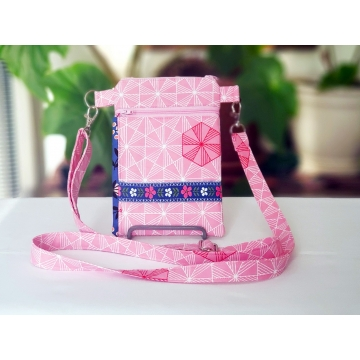 Blue and Pink Vintage Floral Bag