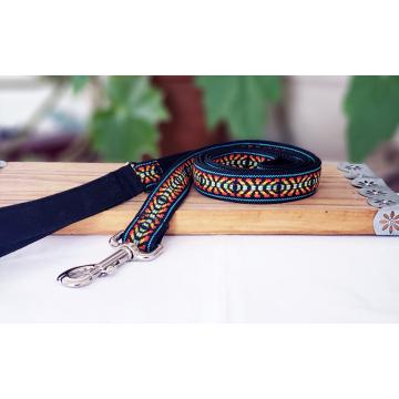 Black and Orange Ikat Leash
