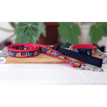 Bright Floral Fashion Collar and Leash Set